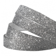 Tape 5mm crystal glitter anthracite